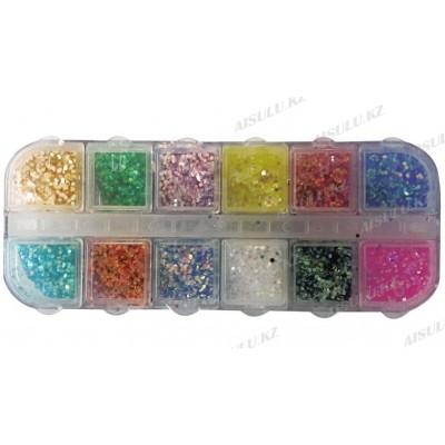 Камуфубики для дизайна ногтей 12 в 1