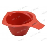 Чаша для краски №606 пласт. с ручкой и носиком 300 мл (красная) AISULU