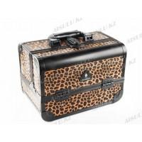 Кейс D 2669 K (ср) для визажиста (леопард), Gladking