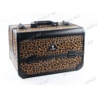 Кейс D 2670 K (б) для визажиста (леопард), Gladking