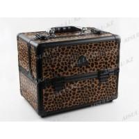 Кейс D 2671 K (ср) для визажиста (леопард), Gladking