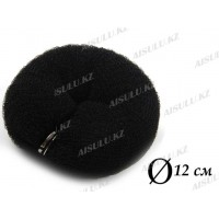 Валик для объема волос Q-66 черный Ø 10 см на кнопке AISULU (м)