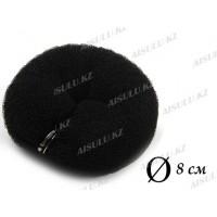 Валик для объема волос Q-66 черный Ø 8 см на кнопке AISULU (м)