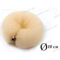 Валик для объема волос Q-66 бежевый Ø 10 см на кнопке AISULU (ср) 11271(2)