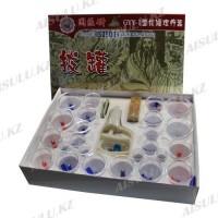 Банки для вакуумного массажа (хиджама) 24 в 1 (+ масло и камень)