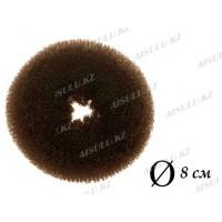 Валик для объема волос Q-65 темно-коричневый Ø 8 см AISULU (м)