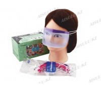 Маска для лица защитная многоразовая MZ-26 пластик. (12 шт.)