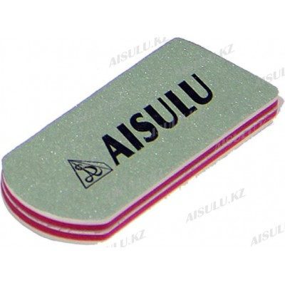 Бафик полировочный для натуральных ногтей (2-х стор., овальный) (упак. 2 шт.) AISULU