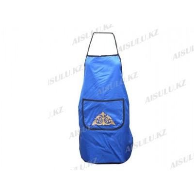 Фартук для парикмахера GF-04 с узором синий AISULU