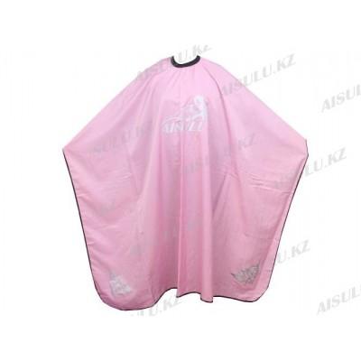 Пеньюар для парикмахера WB-10 с узором, розовый AISULU