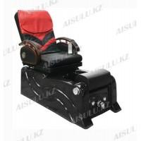 F-9827 Кресло педикюрное с джакузи (черно-красное,