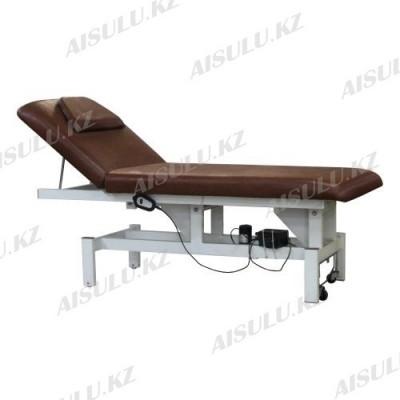 BE-8838 Кушетка массажная электрическая (коричневая, гладкая)