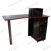 NE-25 Стол маникюрный (черно-красный глянец)