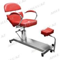FM-615 Кресло педикюрное с откидной спинкой (красное,