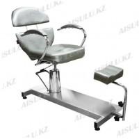 FM-615 Кресло педикюрное с откидной спинкой (серое,