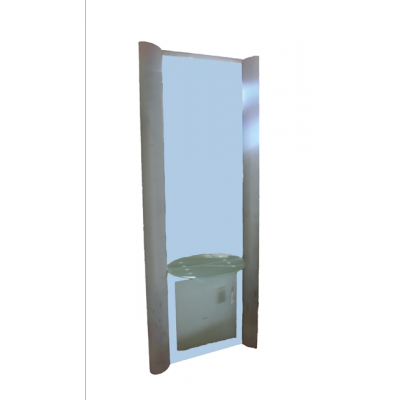 NA-401 Зеркало навесное металлическое с подсветкой